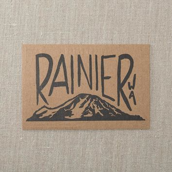 Mt. Rainer Postcard