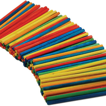 colored wood craft dowels - 4""