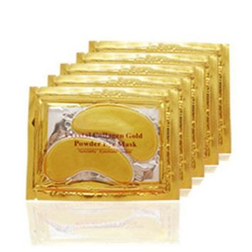 20pcs=10packs Gold Crystal Collagen Eye Mask Eye Patches For The Eye Anti-Wrinkle Remove Black Eye Face Care