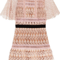 Self-Portrait - Guipure lace mini dress