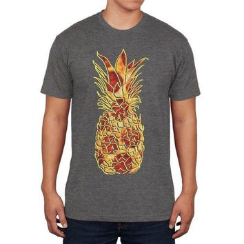 PEAPGQ9 Pineapple Pizza Mens Soft T Shirt