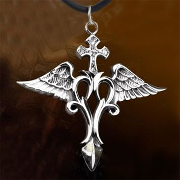 Kaisai Queen King Supernatural Raphael Wings Angel Wings Raphael Force Necklace for Woman Man Gift Jewelry Accessories