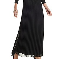 PLEATED CHIFFON MAXI SKIRT