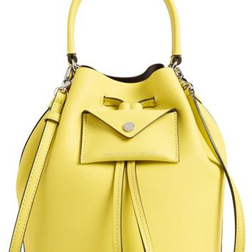 MARC BY MARC JACOBS 'Metropoli' Leather Bucket Bag - Yellow