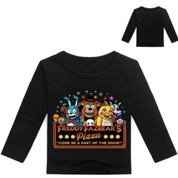 Boys Clothing Kids Long sleeves T-shirt  at Freddy Game  T-shirt For Boys Girls Tees Cotton Tops Kids clothes
