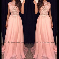Lace Prom Dresses, Simple Prom Dresses, Lace Evening Dresses, Lace Prom Formal Dresses