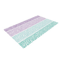 "Pom Graphic Design ""Riverside Pebbles Colored"" Purple Teal Woven Area Rug"