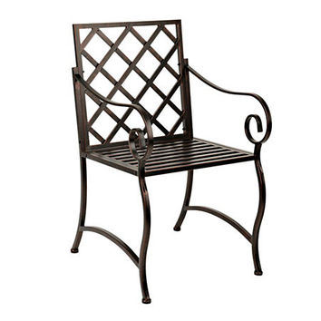 Bronze Scroll Metal Chair
