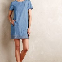 Braided Chambray Tunic Dress