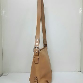 Auth COACH Leather Duffel F15064 Brown Leather Shoulder Bag