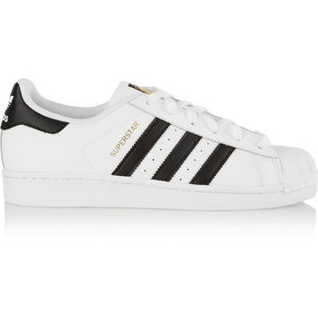 adidas Originals - Superstar Foundation textured-leather sneakers