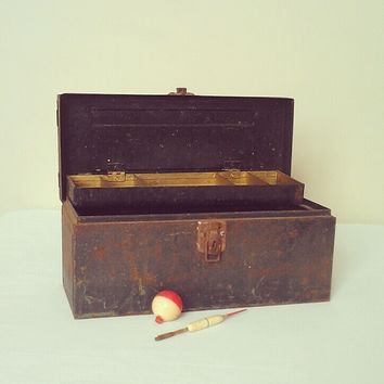 Vintage Industrial Tool Box / Tackle Box - Organization and Storage