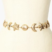 Moon & Stars Chain Belt