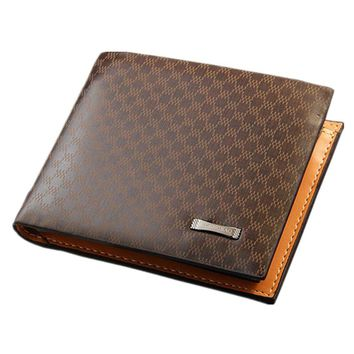 Tmalltide Men's Leather Durable Convenient Extra Large Capacity Lightweight and Pocket Sized Bifold Card Holder Multi-Card Compact Center Flip Wallet Purse Clutch Billfold