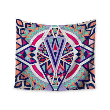 "Pom Graphic Design ""Abstract Journey"" Circular Tribal Wall Tapestry"