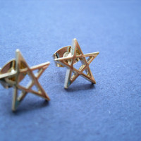 Star Frame Post Earring