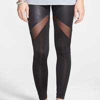 Junior Women's PPLA Mesh Panel Leggings,