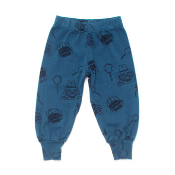 Kira Kids Teal Le Detective Bubble Pant