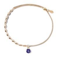 Evil Eye Fancy Bead Pull Chain Bracelet