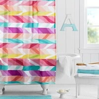 Ikat Stripe Shower Curtain