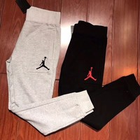 '' Jordan '' long sweatpants same style man and woman