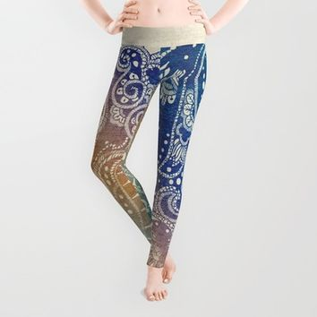 Mermaid Princess  Leggings by Rskinner1122