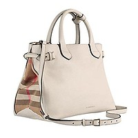 Tote Bag Handbag Burberry Medium Banner in Leather and House Check Natural Item 39589791