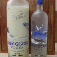 The LARGEST Grey Goose Liquor Bottle Candle on ETSY- Your Choice of Scent
