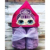 LOL Doll hooded towel