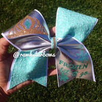 Queen Elsa Frozen Cheer Bow/Bow Let it go Anna/Olaf