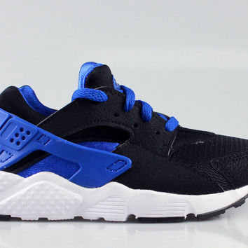 Nike Big Kid's Air Huarache GS Black Blue