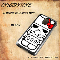 Hello Kitty Skywalker Dart Vader Star Wars Black White Snap On 3D For Samsung Galaxy S5 Mini Case