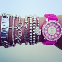 Pink Silver Watch Set from Belle La Vie Boutique