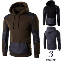 Hoodies High Quality Stylish Sports Men Pullover Patchwork Jacket [10669402819]
