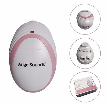 Pocket Mini Fetal Doppler Angelsounds Ultrasound Fetal Heart Monitor Baby Monitor Earphone and USB cable Free Shipping