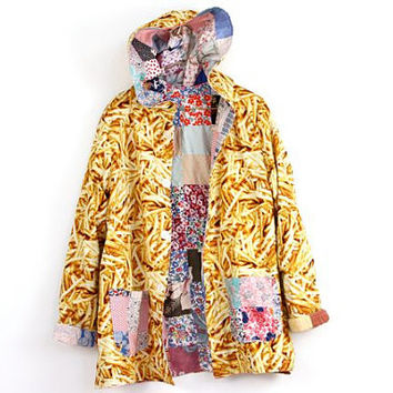 2 in 1, grilled cheese N tapestry Reversible coat, Napkin