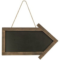 "CWI Gifts Arrow Blackboard with Jute Hanger, 11.5"" x 17"""