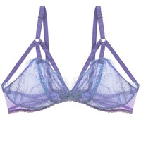 Traci Demi Cup Eyelash Lace Bralette in Fluorite