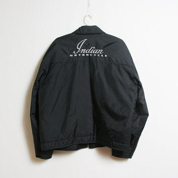 Vintage Indian motorcycle jacket size mens L made in canada