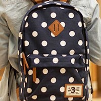 Fashion Style Leisure Dot Canvas Backpack from styleonline