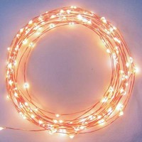 Brightech Warm White LED Starry String Lights, 20' on a Flexible Wire, 120 Individually-Mounted LEDs - Walmart.com