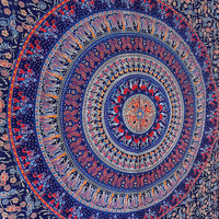 indian elephant mandala twin hippie tapestry wall hanging cotton bedspread bohemian bedding throw ethnic mandala wall decor art