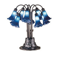 10 Light Tiffany Pondlily Table Lamp Table Lamps