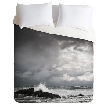 Bird Wanna Whistle White Water Duvet Cover