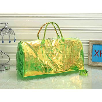 LV fashion hot seller ladies transparent print gradient casual shopping shoulder bag #2