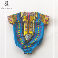 Infant Boy Girls African Dashiki Jumpsuits Onesuits