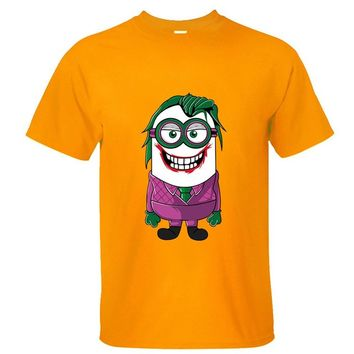 CRAZY POMELO Funny Minion Joker Men's T-shirt