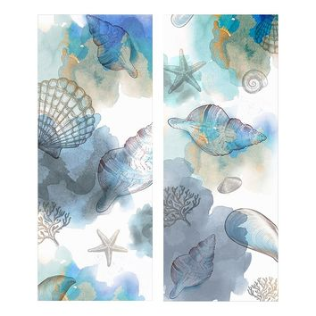 Seashell Reflections 2-piece Canvas Wall Art Set