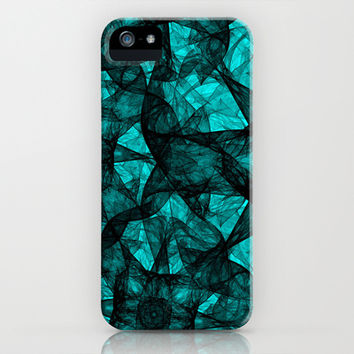 Fractal Art Turquoise G52 iPhone & iPod Case by MedusArt