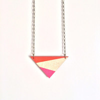 Hand painted triangle necklace